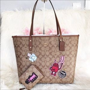 PRICE FIRM Coach Keith Haring Tote and Wallet